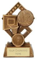 Cube Basketball Trophy Award 4.5 Inch (11.5cm) : New 2020