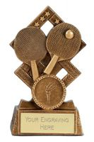 Cube Table Tennis Trophy Award 4.5 Inch (11.5cm) : New 2020