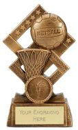 Cube Netball Trophy Award 4.5 Inch (11.5cm) : New 2020
