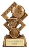 Cube Netball Trophy Award 5.25 Inch (13.5cm) : New 2020