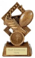 Cube Rugby Trophy Award 4.5 Inch (11.5cm) : New 2020