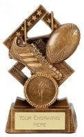 Cube Rugby Trophy Award 4.5 Inch (11.5cm) : New 2020