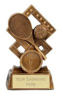 Cube Tennis Trophy Award 4.5 Inch (11.5cm) : New 2020
