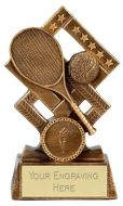 Cube Tennis Trophy Award 5.25 Inch (13.5cm) : New 2020