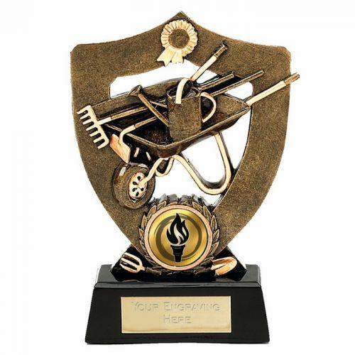 Celebration Shield Trophy Award5 Gardening Aggt 5.5 Inch