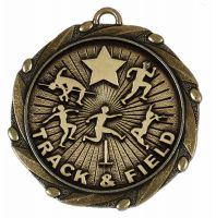 Combo45 Track and Field - Gold Free Red White And Blue Ribbon - 45mm Diameter- New 2018
