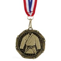 Combo45 Martial Arts - Gold Free Red White And Blue Ribbon - 45mm Diameter- New 2018