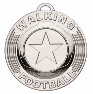 Target50 Walking Football Trophy Award Medal - Silver - 50mm Diameter- New 2018