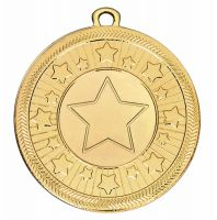 Vf Centre Stars Medal - Gold - 50mm Diameter- New 2018