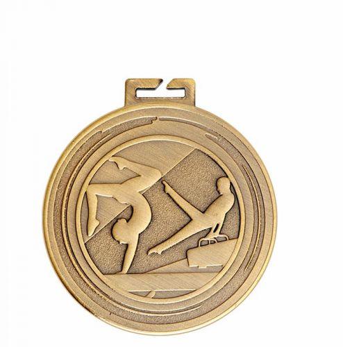 Aura Unisex Gymnastics Medal 2 Inch (50mm) Diameter - New 2019