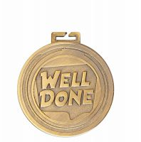 Aura Well Done Medal 2 Inch (50mm) Diameter - New 2019