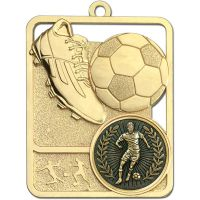 Football Trophy Award Boot and Ball Medal - Gold - 62mm Height- New 2018