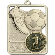 Football Trophy Award Boot and Ball Medal - Silver - 62mm Height- New 2018