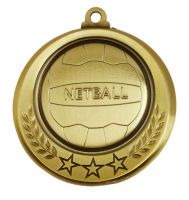 Spectrum Netball Medal Award 2.75 Inch (70mm) Diameter : New 2020