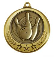 Spectrum Ten Pin Bowling Medal Award 2.75 Inch (70mm) Diameter : New 2020