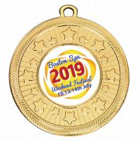 Personalised 50mm Medal 2 Inch (50mm) Diameter - New 2019
