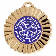 Personalised Rosette Medal Award 1 3/8 Inch (45mm) Diameter : New 2020