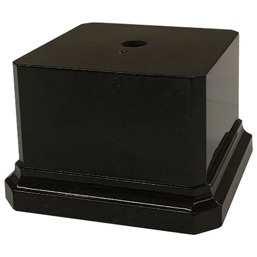 Black Plastic Square Trophy Base - 75 X 75 X 50mm