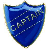 School Shield Trophy Award Badge (Captain) Green 1.25in