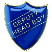 School Shield Trophy Award Badge (Deputy Head Boy) Red 1.25in