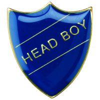 School Shield Trophy Award Badge (Head Boy) Yellow 1.25in
