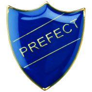 School Shield Trophy Award Badge (Prefect) Yellow 1.25in