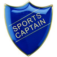 School Shield Badge (Sports Captain) Blue 1.25in : New 2020
