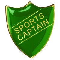 School Shield Badge (Sports Captain) Green 1.25in : New 2020