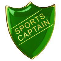 School Shield Badge (Sports Captain) Green 1.25in : New 2020