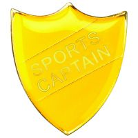 School Shield Badge (Sports Captain) Yellow 1.25in : New 2020