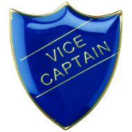 School Shield Trophy Award Badge (Vice Captain) Yellow 1.25in