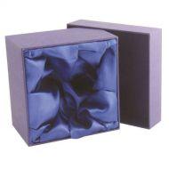 Blue Presentation Box Fits 1 Wine 2 Whiskey 2 Brandy