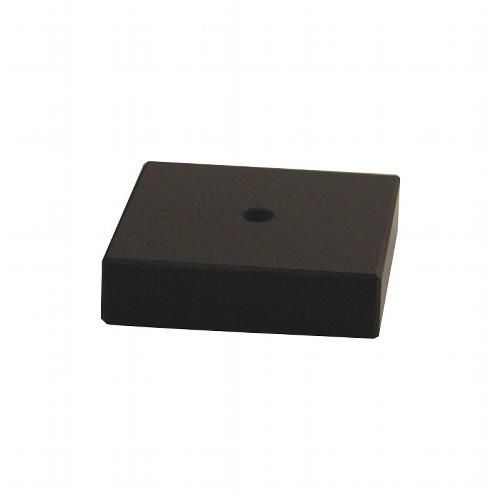 Black Marble Trophy Award Base - 1 Hole Countersunk 3.35 X 3.35 X 1.125in
