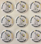 Trophy & Medal Customised Centres 2.5cm Football, Cricket, Golf