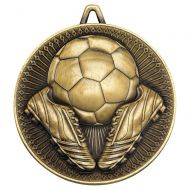 Football Deluxe Medal Antique Gold 2.35in - New 2019