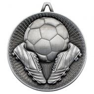 Football Deluxe Medal Antique Silver 2.35in : New 2019