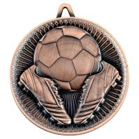 Football Deluxe Medal Bronze 2.35in - New 2019