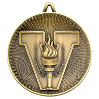 Victory Torch Deluxe Medal Antique Gold 2.35in - New 2019