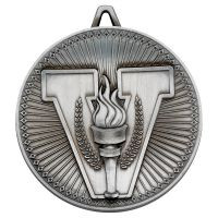 Victory Torch Deluxe Medal Antique Silver 2.35in - New 2019