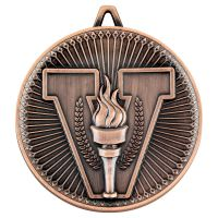 Victory Torch Deluxe Medal Bronze 2.35in : New 2019