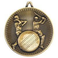 Cricket Deluxe Medal Antique Gold 2.35in - New 2019