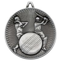 Cricket Deluxe Medal Antique Silver 2.35in - New 2019