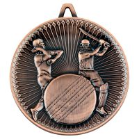 Cricket Deluxe Medal Bronze 2.35in - New 2019