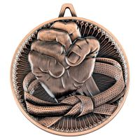 Martial Arts Deluxe Medal Bronze 2.35in - New 2019