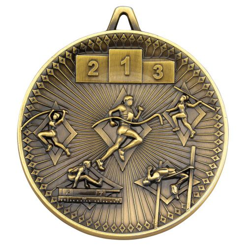 Athletics Deluxe Medal Antique Gold 2.35in - New 2019