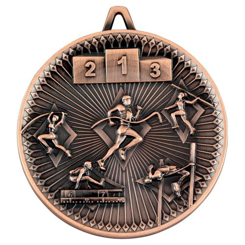 Athletics Deluxe Medal Bronze 2.35in - New 2019