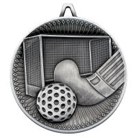 Hockey Deluxe Medal Antique Silver 2.35in - New 2019