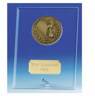Vision Motorsport Glass Award Plaque 4.25 Inch (10.5cm) : New 2020