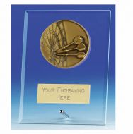 Vision Darts Glass Award Plaque 5 Inch (12.5cm) : New 2020