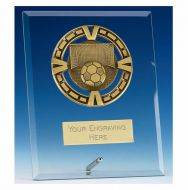 Varsity Football Glass Award Plaque 6 Inch (15cm) : New 2020